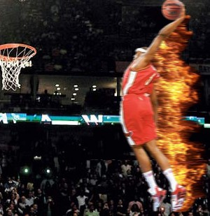 Josh Smith on fire
